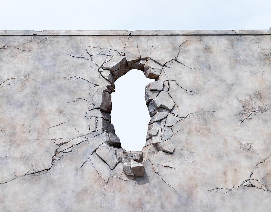 Broken wall Photograph by Liyao Xie