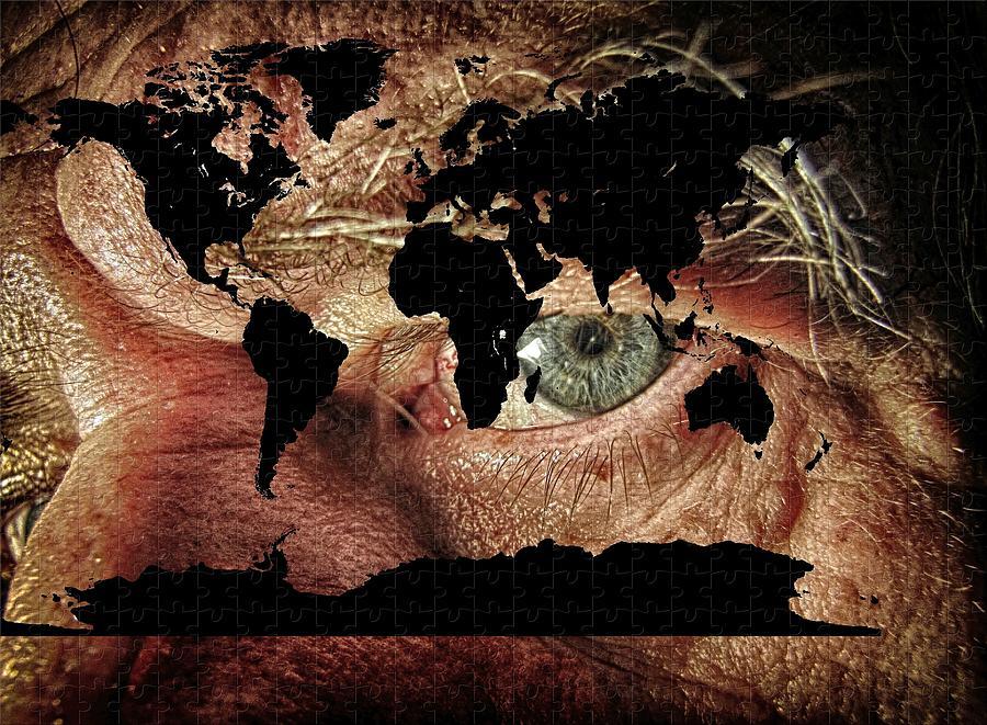 Broken World Puzzle Digital Art