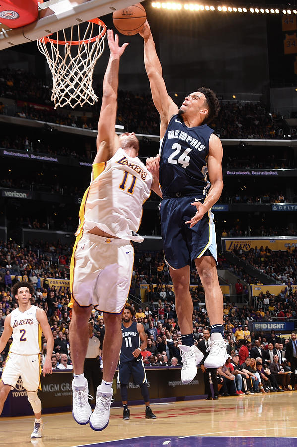 Brook Lopez and Dillon Brooks Photograph by Andrew D. Bernstein