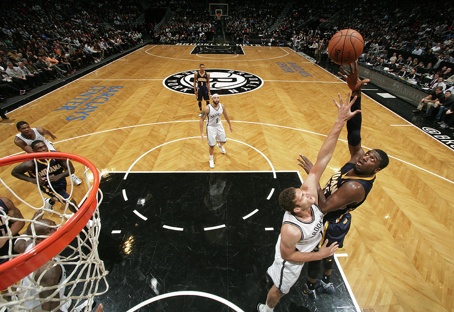 Brook Lopez and Roy Hibbert Photograph by Nathaniel S. Butler