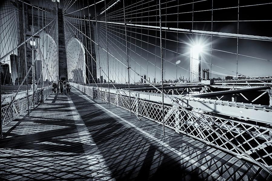 Brooklyn Bridge NYC Monotone GRK2840_04012019 by Greg Kluempers