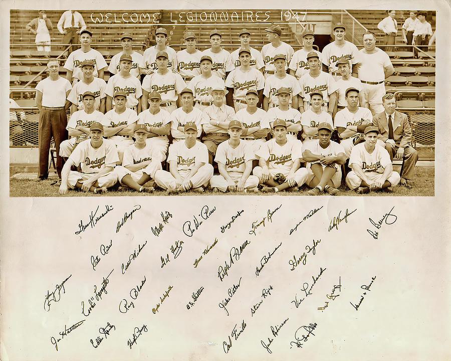 Brooklyn Dodgers Baseball Team Photograph