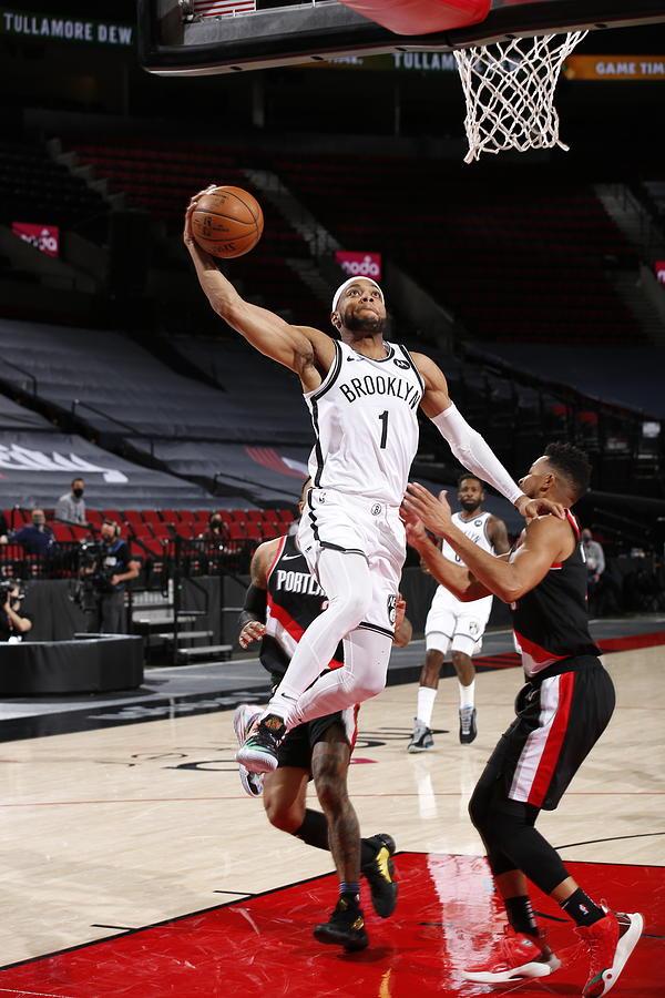Brooklyn Nets vs. Portland Trail Blazers Photograph by Cameron Browne