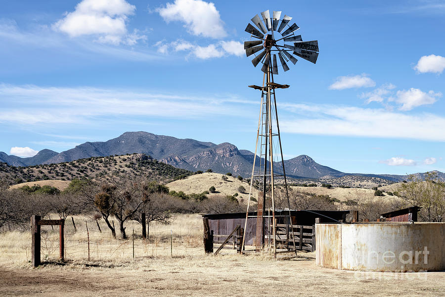 Brown Canyon Windmill Photograph