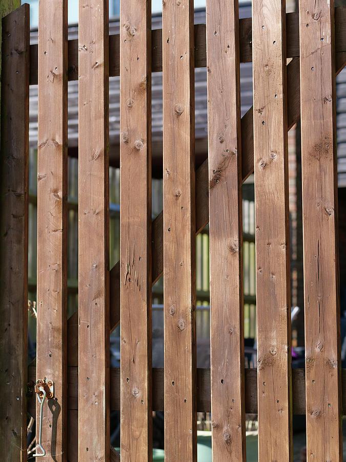Brown Coloured Garden Fence Photograph