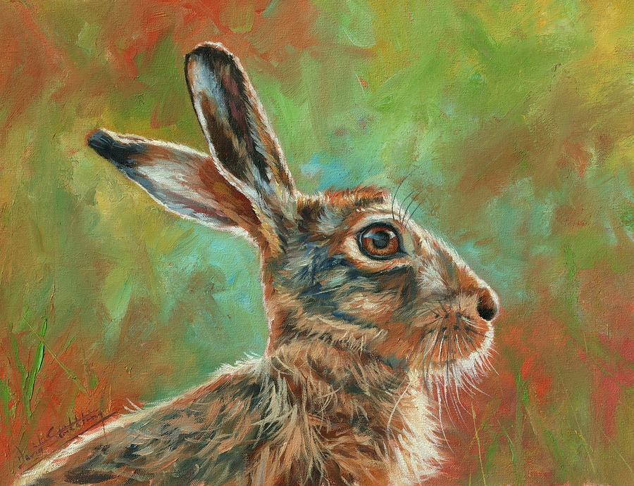 Brown Hare Painting