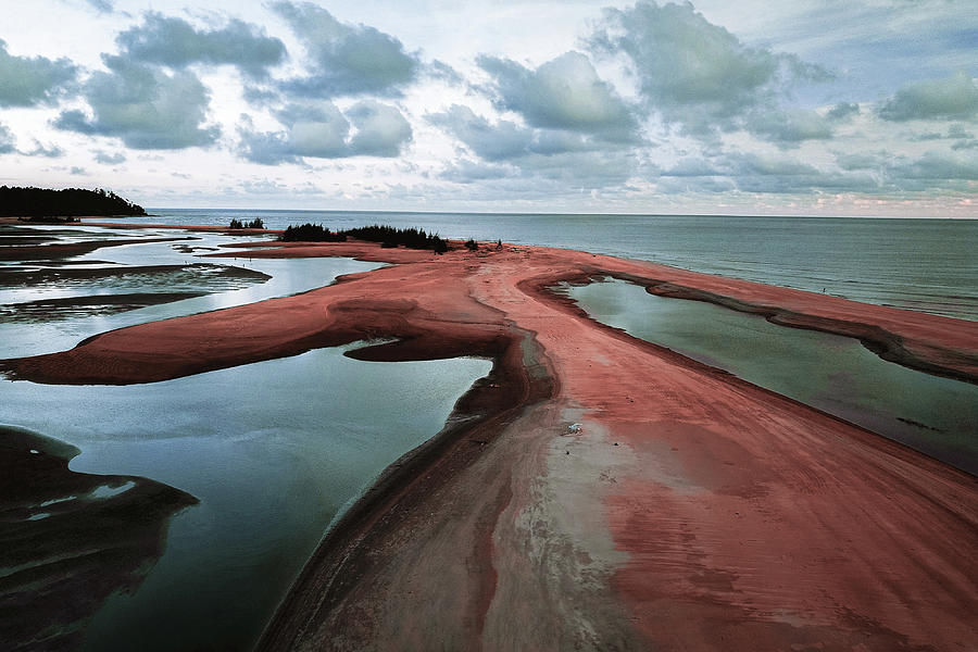 Brown Sand Near Body Of Water - Surreal Art By Ahmet Asar Digital Art