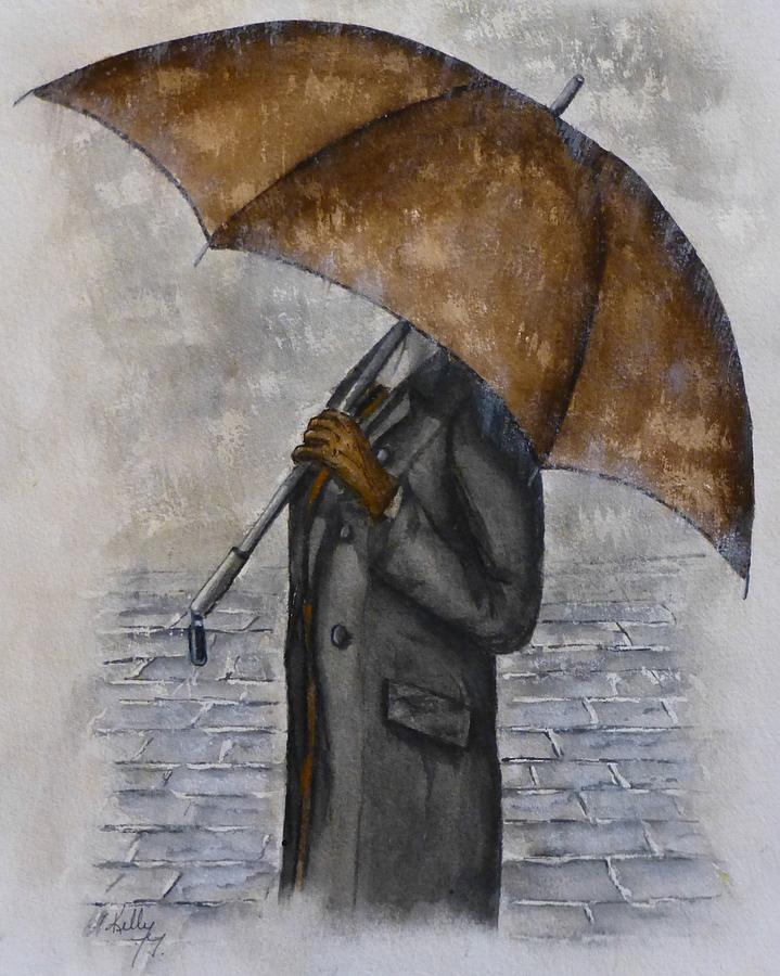 Brown Umbrella and Gloves by Kelly Mills