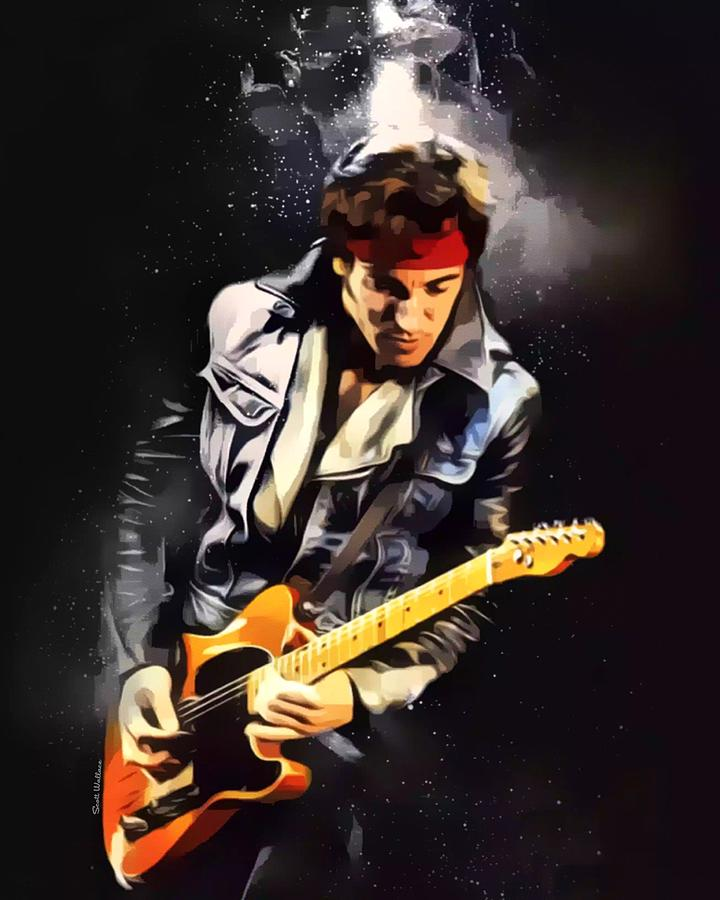 Bruce Springsteen Digital Art - Bruce Springsteen by Scott Wallace Digital Designs