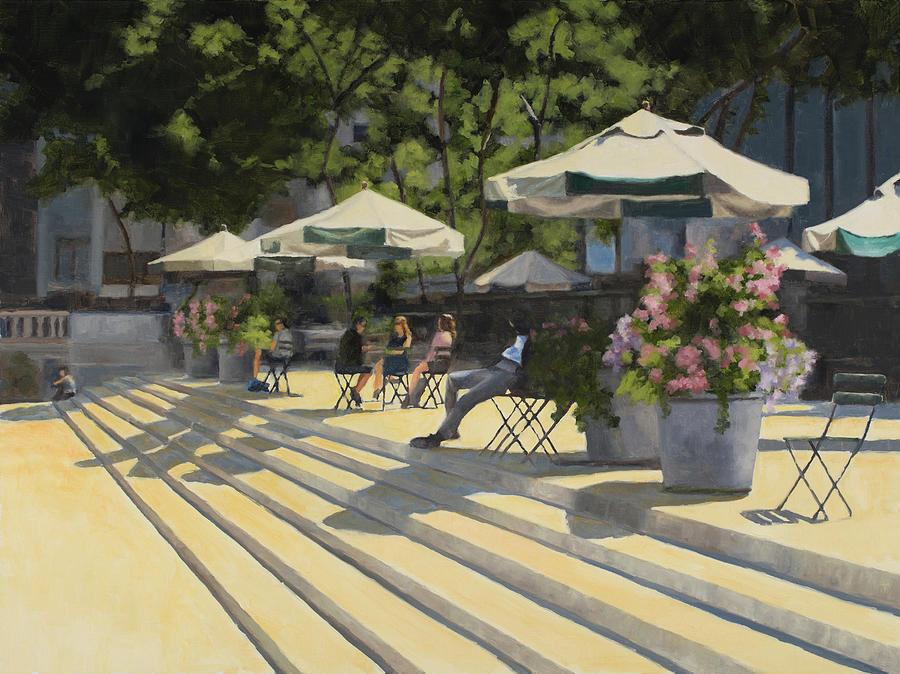 Park Painting - Bryant Park Sunshine by Tate Hamilton