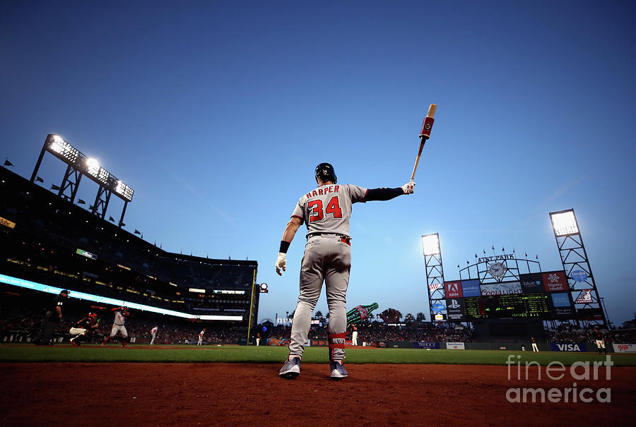 Bryce Harper Photograph by Ezra Shaw