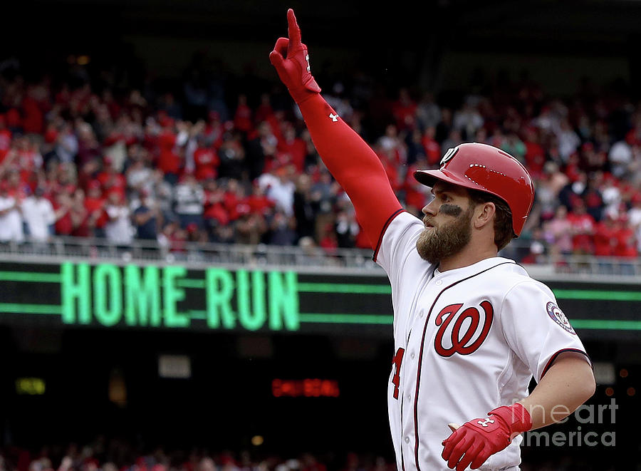 Bryce Harper Photograph by Win Mcnamee