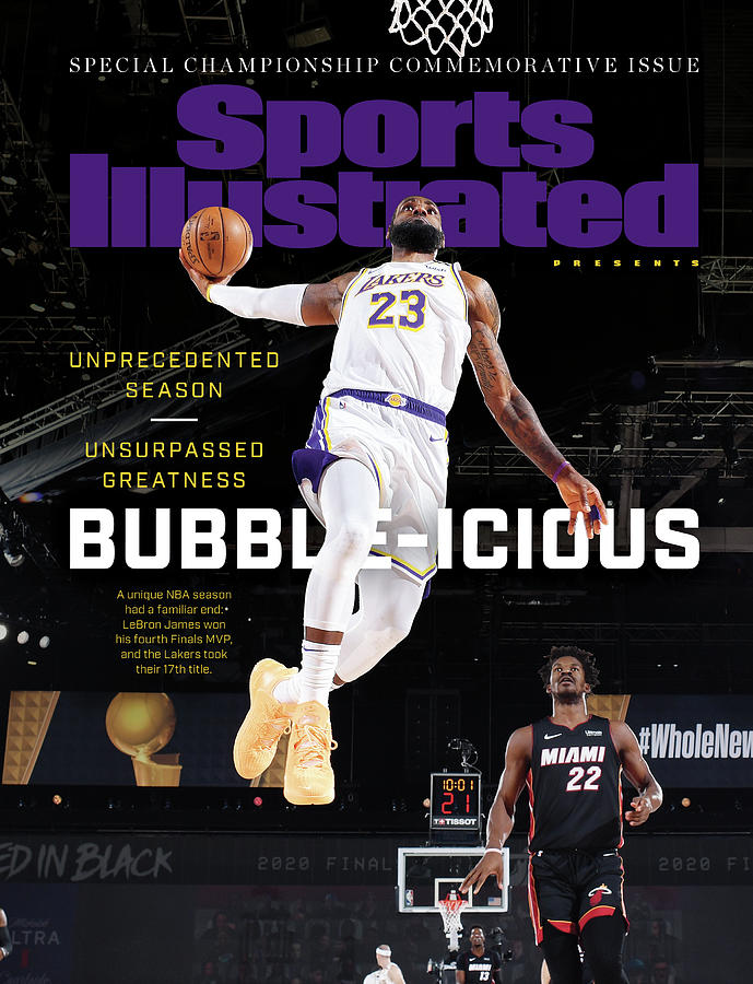 Bubble-icious Los Angeles Lakers NBA Championship Sports Illustrated Cover Photograph by Sports Illustrated