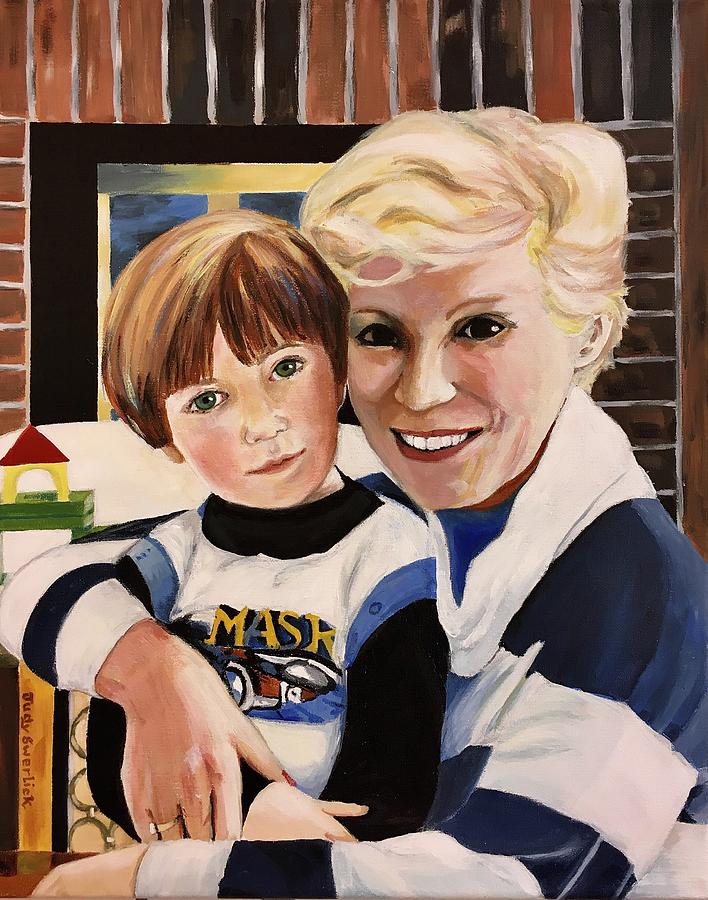 Portrait Painting - Bubbys Joy by Judy Swerlick