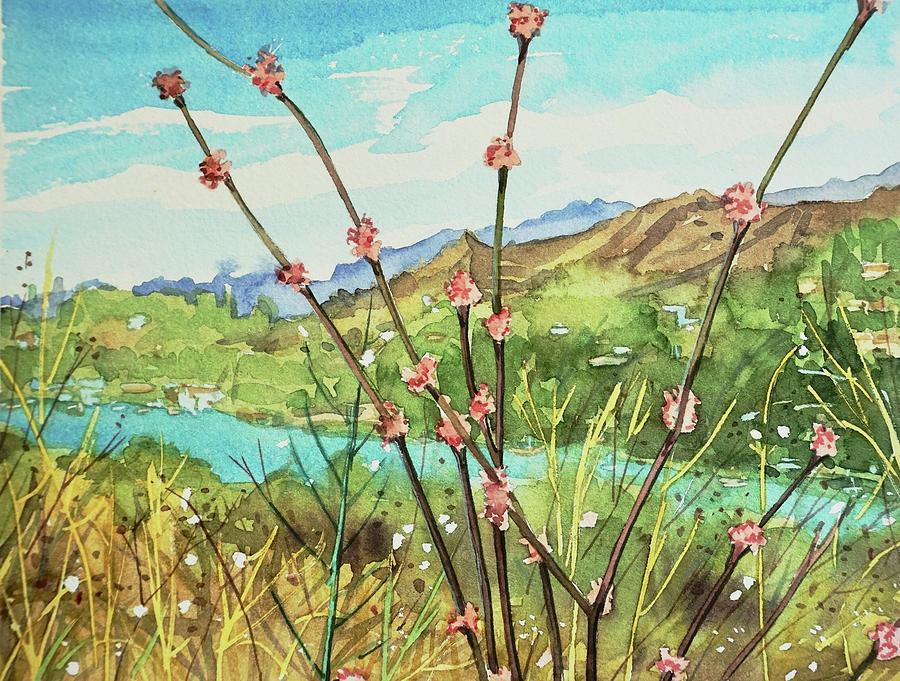 Buckwheat Over Malibou Lake Painting