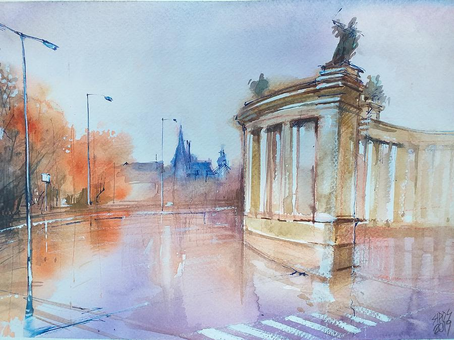 Budapest-heroes Square Painting