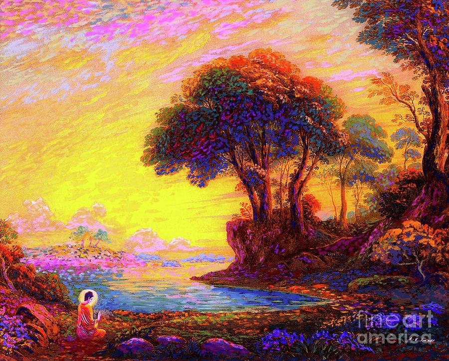 Meditation Painting - Buddha Bliss by Jane Small