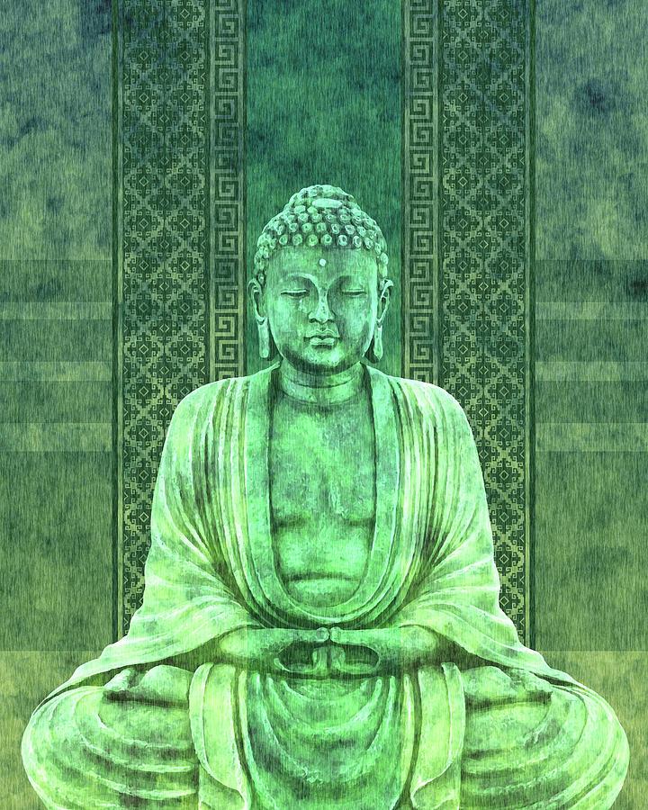 Dhyana - Buddha In Meditation 01 Mixed Media