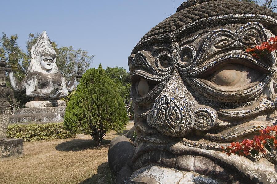 Buddha Park, Xieng Khuan, Vientiane, Laos, Indochina, Southeast Asia, Asia Photograph by Robert Harding / robertharding