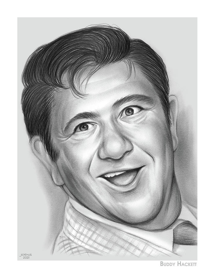 Buddy Hackett Drawing - Buddy Hackett - Pencil by Greg Joens