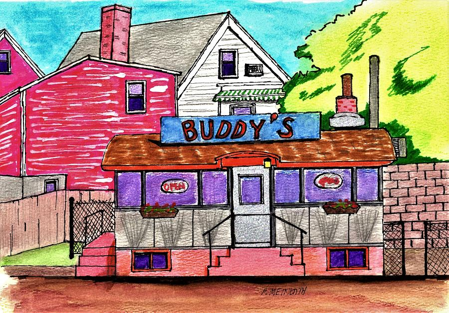 Buddys Diner Drawing