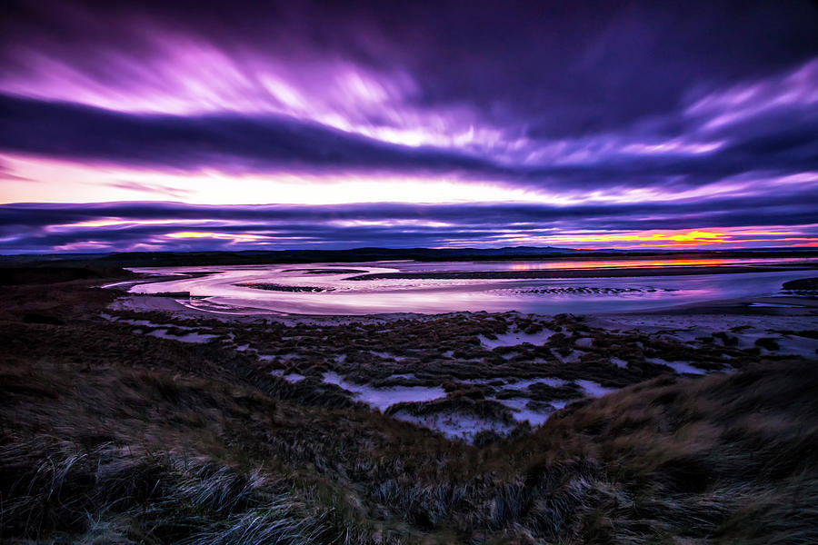 Budle Bay Photograph - Budle Bay at Sunset by Paul Cullen