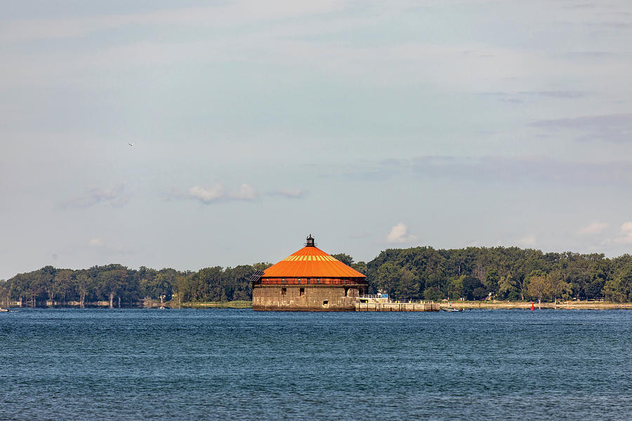 Buffalo Intake Crib Lighthouse On Lake Erie Photograph