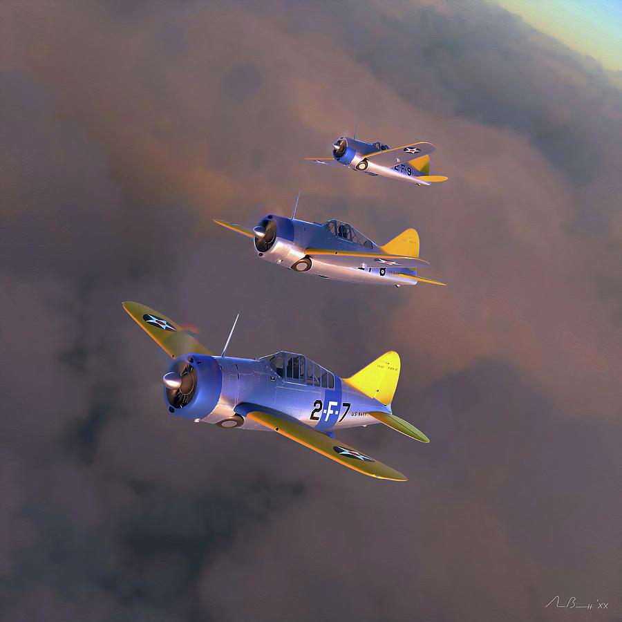 F2a Digital Art - Buffalo Sunset by Hangar B Productions
