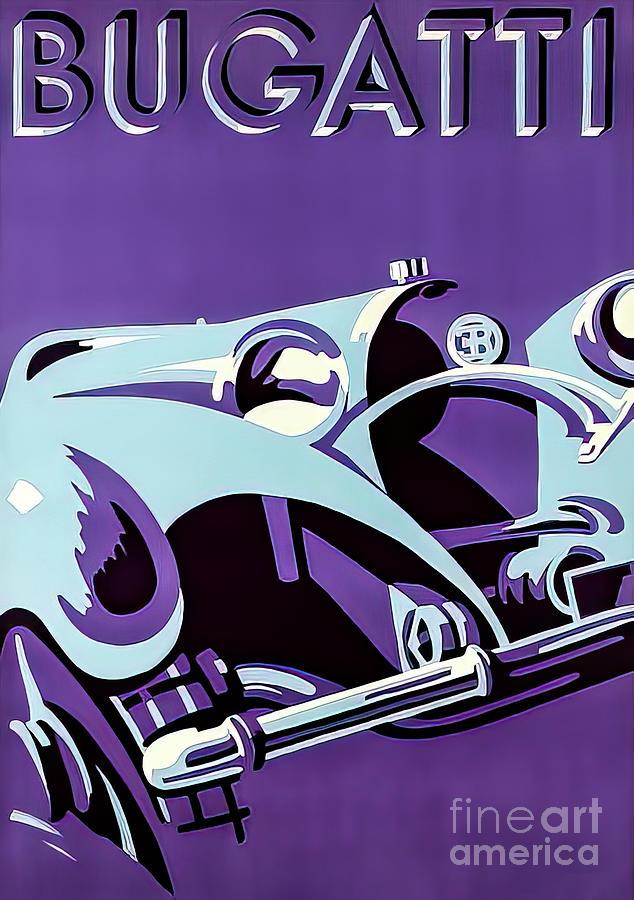 Bugatti Advertising Poster 1932 Drawing