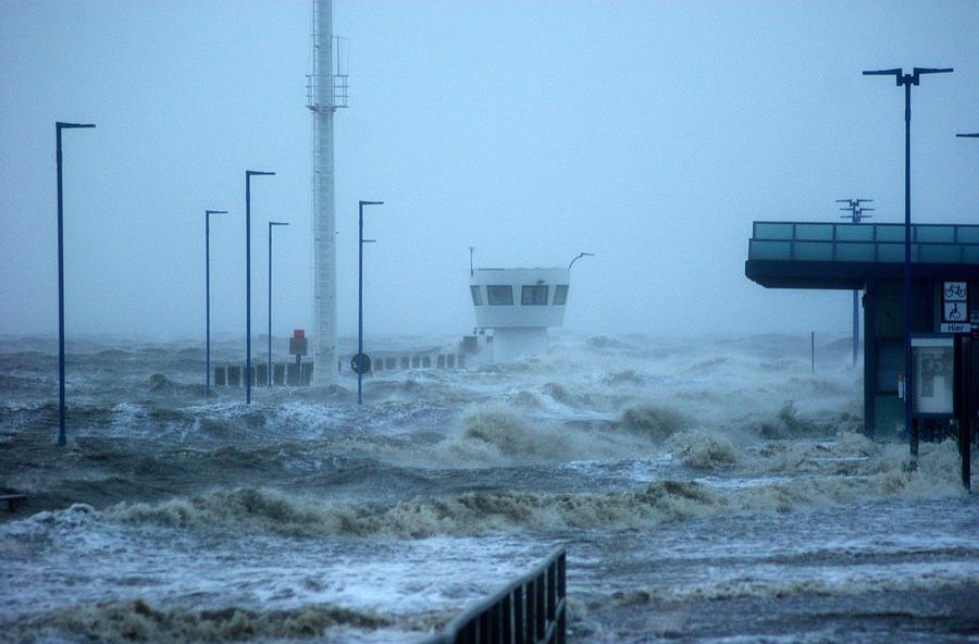 Build Structures And Sea Storm Photograph by Torsten Jensen / EyeEm