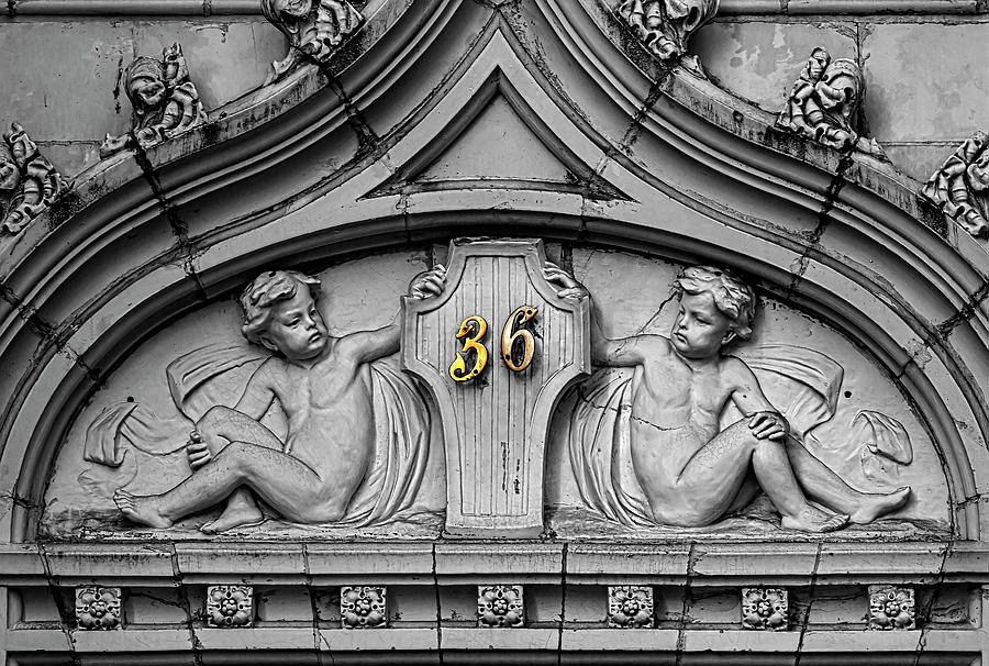 Building Facade and Address Number - Gramercy Park NYC  by Robert Ullmann