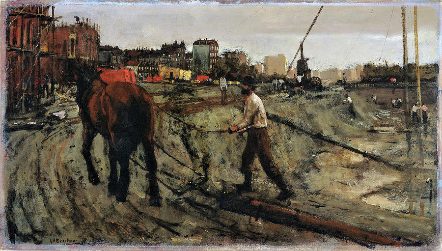 George Hendrik Breitner Painting - Building Site In Amsterdam - Digital Remastered Edition by George Hendrik Breitner