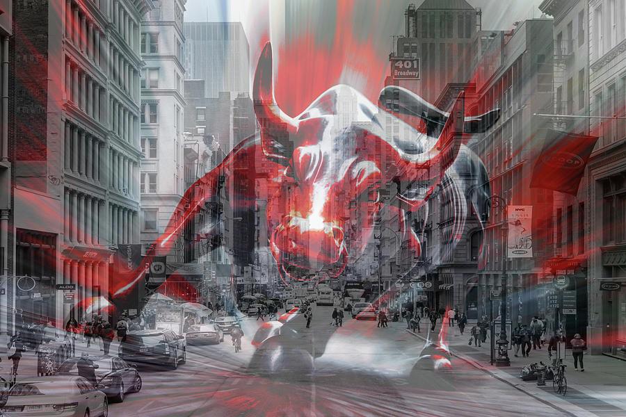 Bull Rush On Broadway Photograph