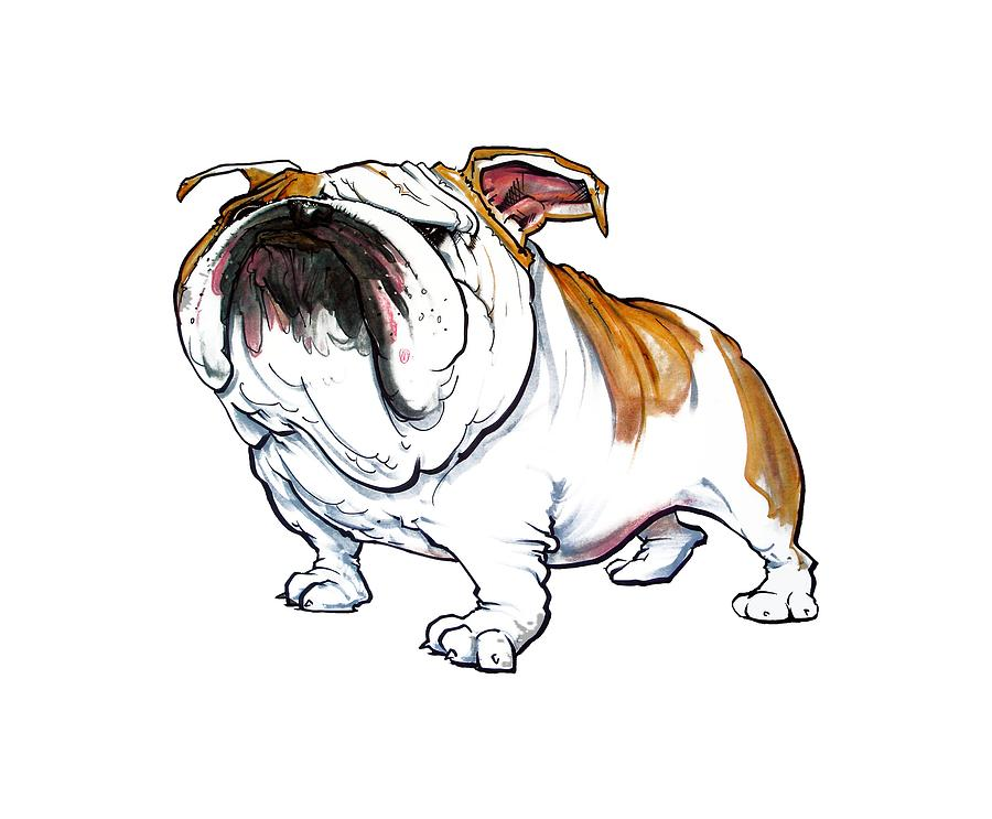 Bulldog Caricature Drawing