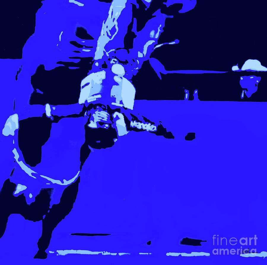 Bullrider Painting - Bullrider Upside Down by Jack Bunds