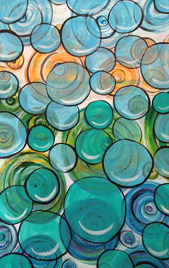 Circles Mixed Media - Bumblac The 1st by Jessica Gordon