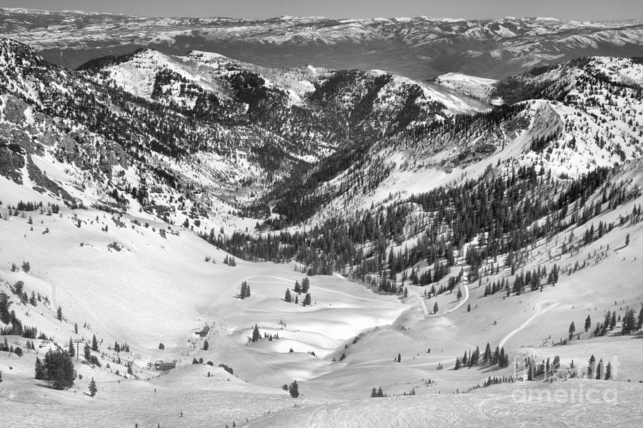 Bumps In Mineral Basin Black And White by Adam Jewell