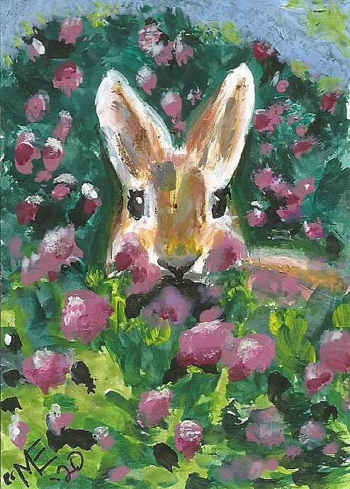 Bunny Painting - Bunny by Monica Resinger