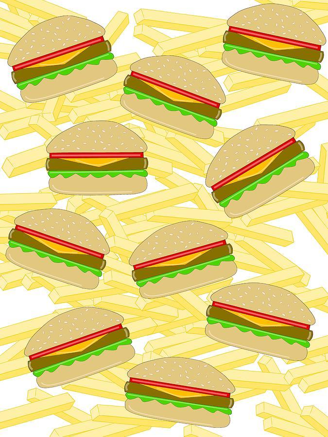 Burgers With Fries by Kathleen Sartoris