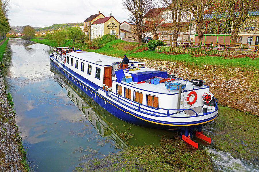 Burgundy Canal Barge 3 Photograph