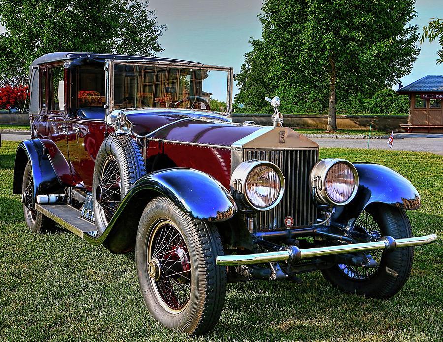 Burgundy Rolls Royce  by Carol Montoya