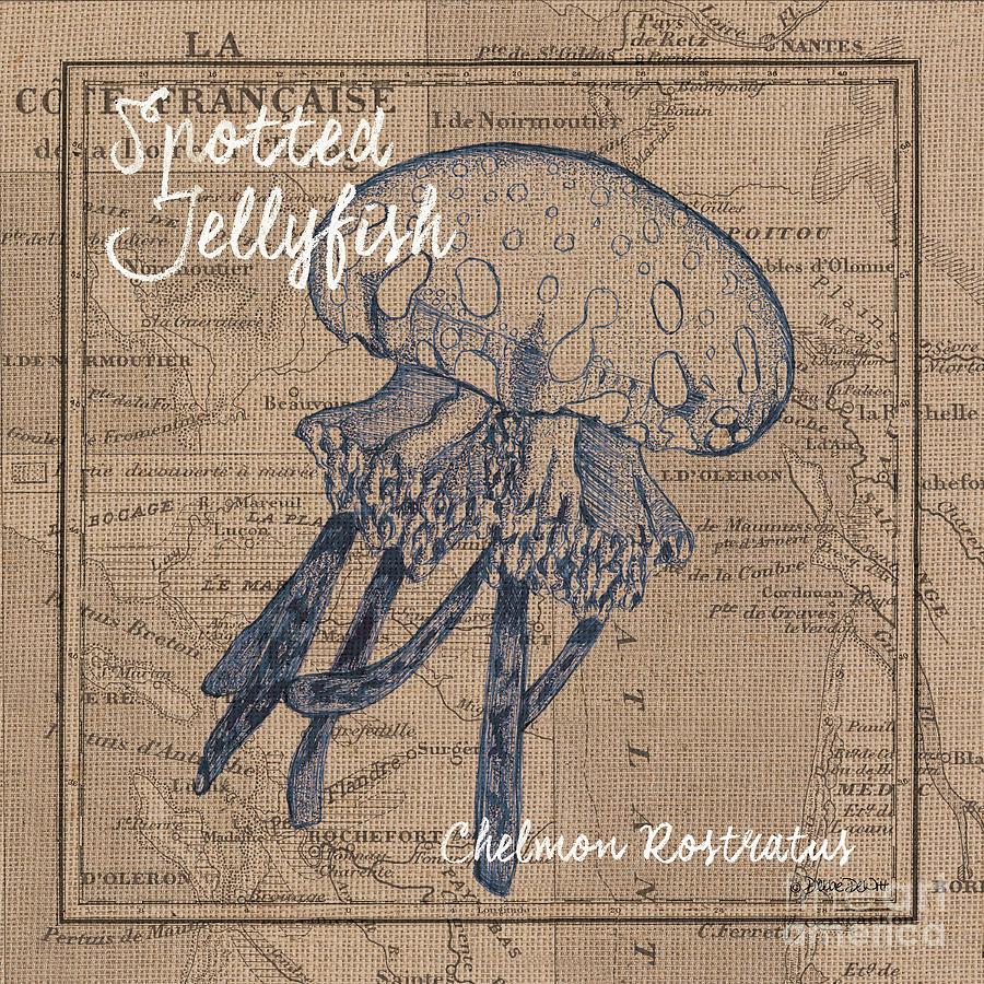 Burlap Jellyfish Painting