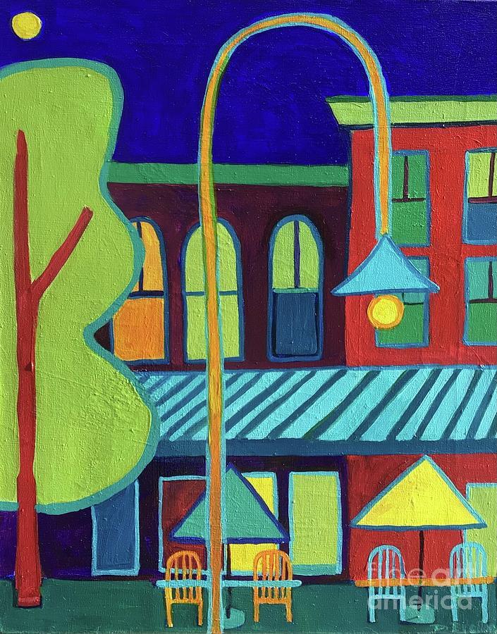Vermont Painting - Burlington VT street scene by Debra Bretton Robinson