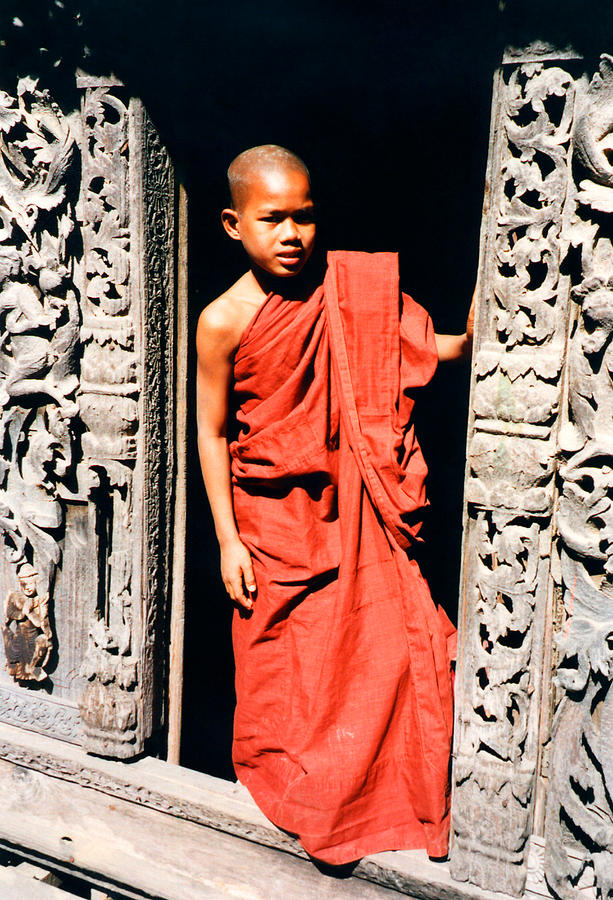 Monk Photograph - Burmese Novice Monk by PIXELS  XPOSED Ralph A Ledergerber Photography