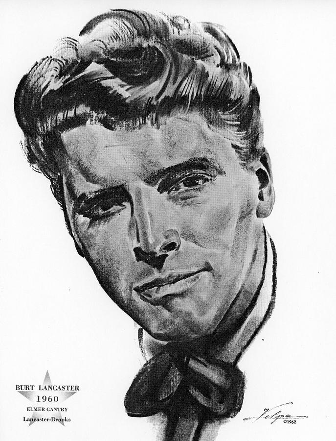 Burt Lancaster By Volpe Drawing