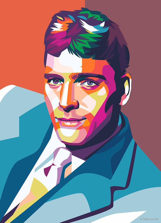 Burt Lancaster Illustration Painting