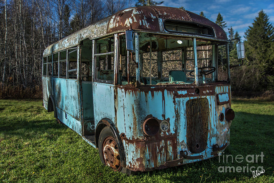 Rusted Bus Photograph