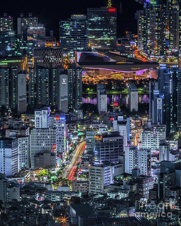 Busan Photograph - Busan by night by David Rocaberti