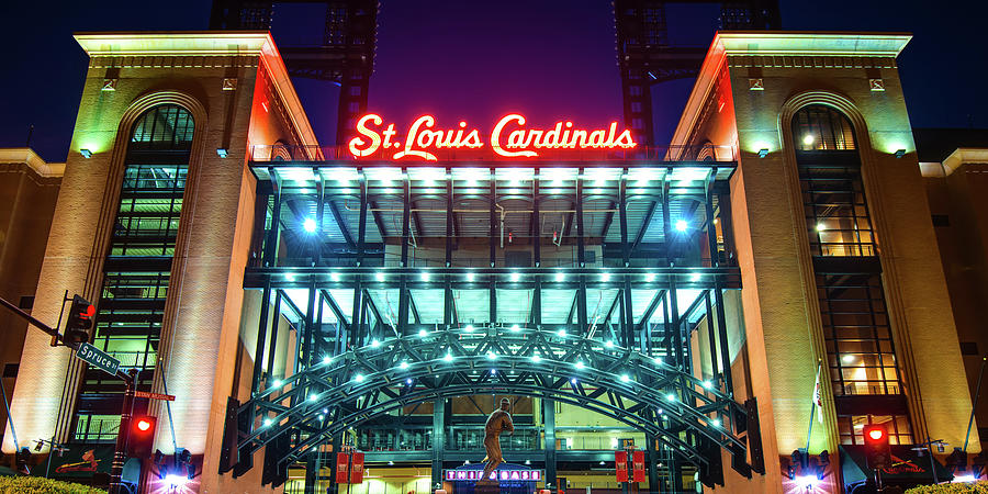 Busch Stadium And St Louis Cardinals Baseball Panorama Photograph