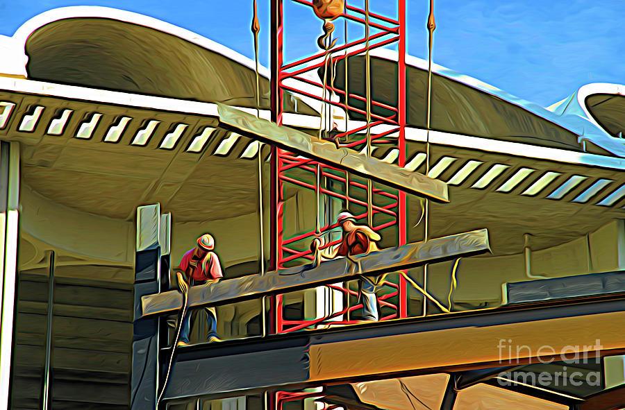 St Louis Digital Art - Busch Stadium - Expressionism by Chris Mautz